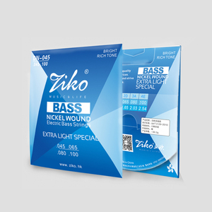ziko high-carbon steel nickel wound 4/5/6 strings bass string