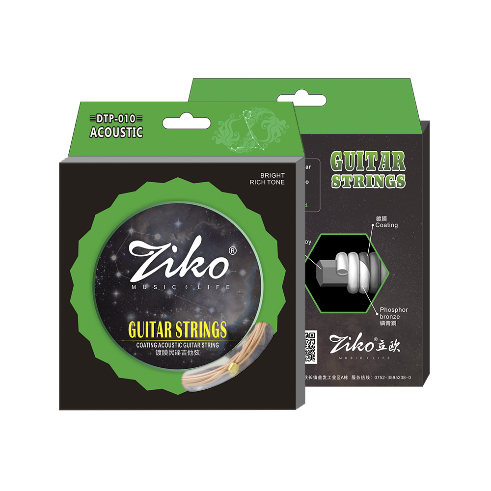 Ziko bullet Coated Acoustic guitar string DTP-010/011/012